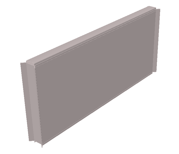 gladde wand silo 3D transparant smooth wall silo