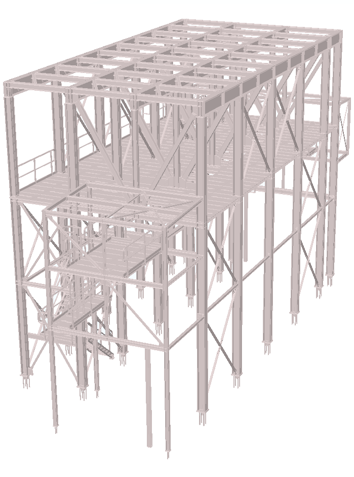 square silo steel construction staalconstructie 3D