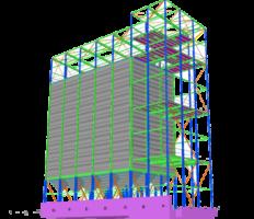 Square silo 3D - Berte Qvarn